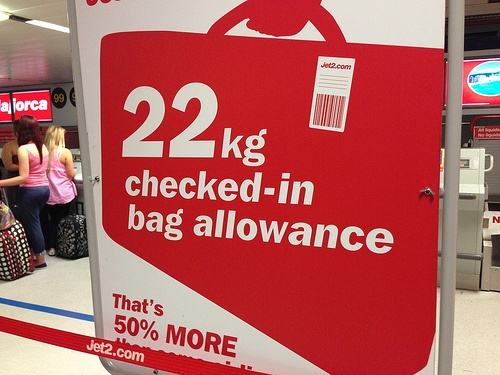 Baggage allowance with Jet2.com Photo: Heatheronhertravels.com