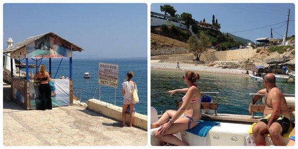 Boat trip from Makris Gialos on Zante, Greece Photo: Heatheronhertravels.com