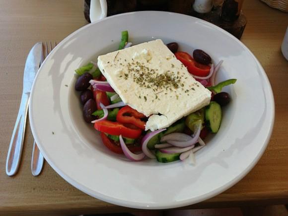 Greek salad at Windmill Studios Hotel, Zakynthos, Greece Photo: Heatheronhertravels.com