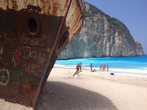 Shipwreck beach on Zakynthos, Greece Photo: Heatheronhertravels.com