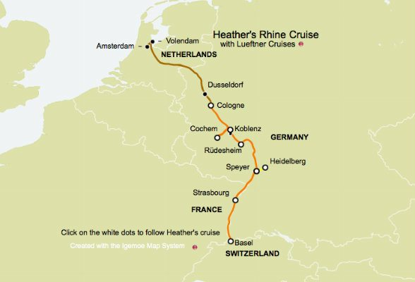 Putting my Rhine river cruise on the map | Heather on her travels