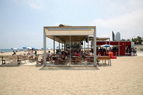 El Xiringuito de Escribà Beach bar at Barcelona Photo: http://xiringuitoescriba.com/