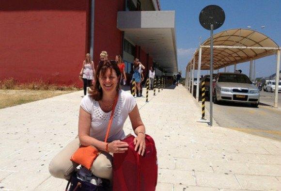 Arriving at Zante airport the heat hits me Photo: Heatheronhertravels.com