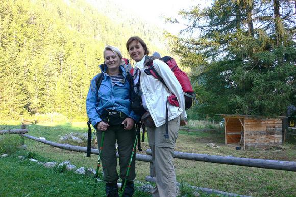 The start of our walk at Gite Bon Abri, Champex Lac Photo: Heatheronhertravels.com