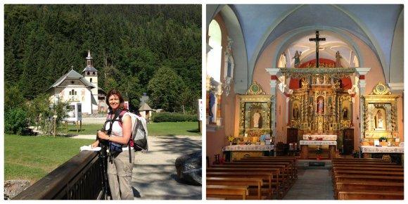 Chapel of Notre Dame de la Gorge on the Tour de Mont Blanc Photo: Heatheronhertravels.com