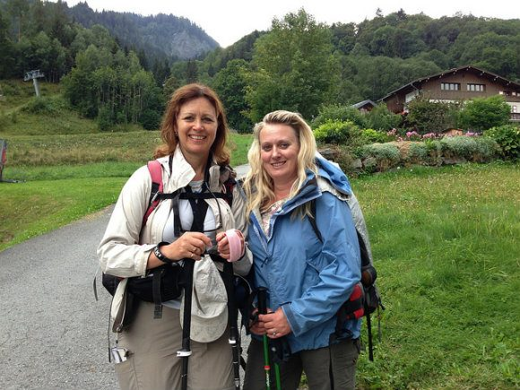 Finished the Tour de Mont Blanc at Les Houches Photo: Heatheronhertravels.com