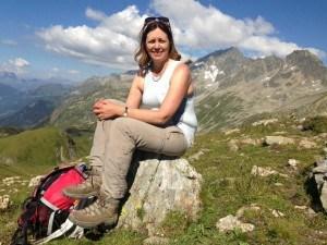 Viewpoint at Col de Bonhomme on the Tour de Mont Blanc Photo: Heatheronhertravels.com