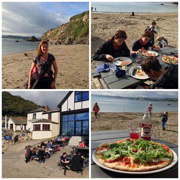 Lunch at Sam's on the beach, Polkerris, Cornwall Photo: Heatheronhertravels.com