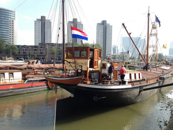 By the Haven Museum in Rotterdam - what to see in Rotterdam in one day Photo: Heatheronhertravels.com