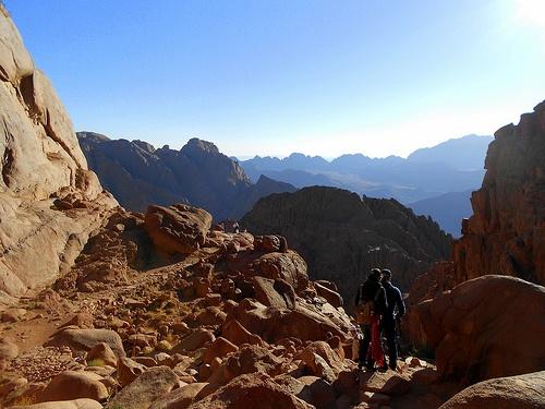 Climbing Mt Sinai in Egypt Photo: Mina Mahrous
