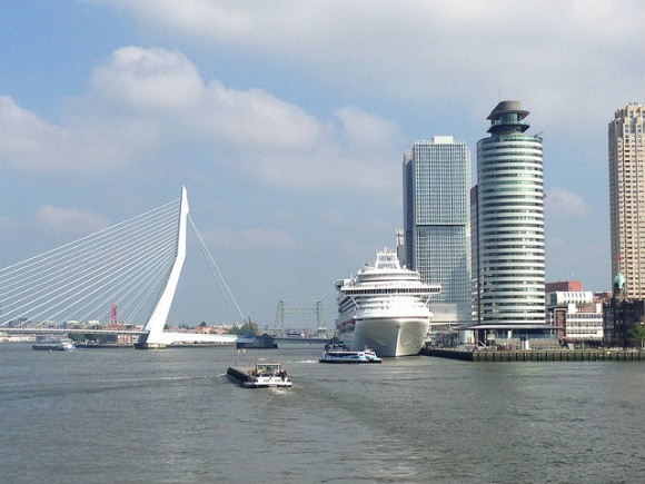 Rotterdam harbour seen from the Spido Harbour tour - what to see in Rotterdam in one day Photo: Heatheronhertravels.com
