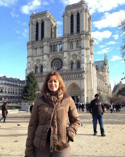 In front of Notre-Dame cathedral, Paris Photo: Heatheronhertravels.com