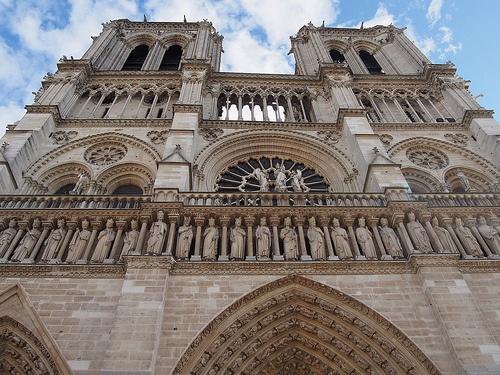 Western Facade of Notre-Dame Cathedral, Paris Photo: Heatheronhertravels.com