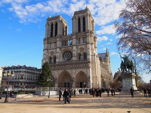 Western Facade of Notre-Dame Cathedral in Paris Photo: Heatheronhertravels.com