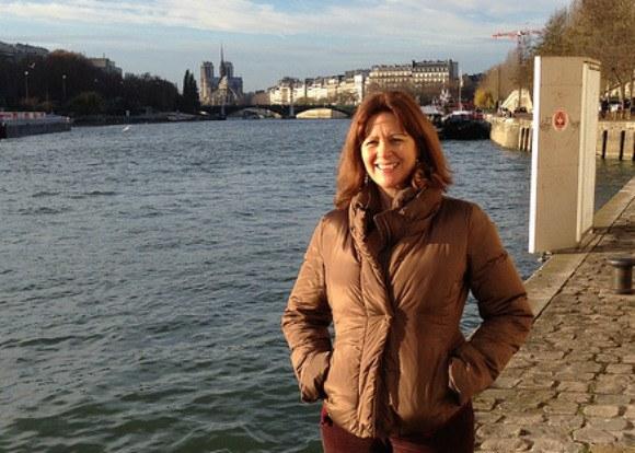 Footpath beside the Seine looking back to Notre Dame in Paris Photo: Heatheronhertravels.com