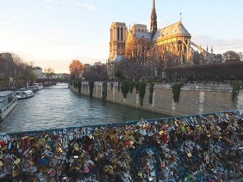 Love Padlocks on Pont de l'Archevêché near Notre Dame, Paris Photo: Heatheronhertravels.com