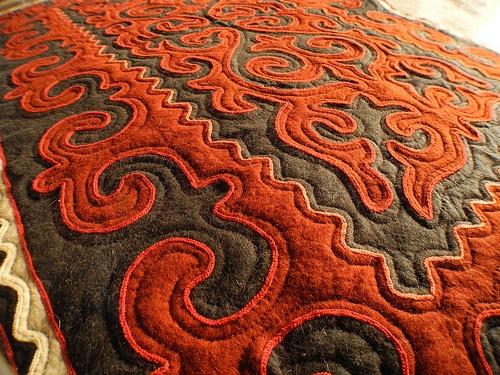 The Shyrdak felt rug is the Kyrgyz national art Photo: Globein.com