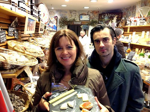 Heather and our Viator guide David in the Fromagerie Photo: Heatheronhertravels.com
