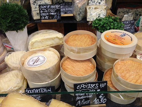 Cheeses at the Fromagerie in Marche d'Aligre in Paris Photo: Heatheronhertravels.com