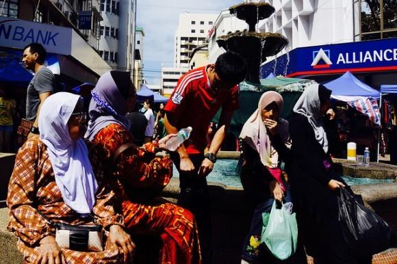 Ladies at the Sunday market in Kota Kinabalu