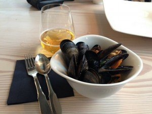 Mussels at Verandah as part of our gastro cruise with Copenhagen Cooking Photo: Heatheronhertravels.com