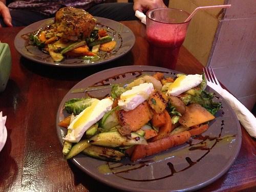 Vegetarian dish at Earth Cafe in Marrakech Photo: Heatheronhertravels.com