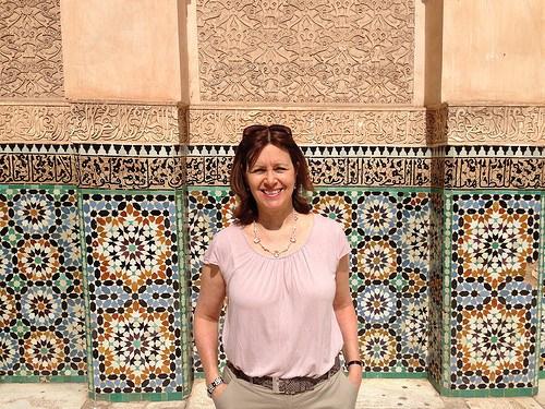 Heather at Medersa Ben Youssef in Marrakech Photo: Heatheronhertravels.com