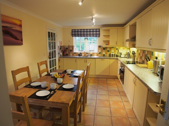 Kitchen at Beech Cottage, Penhaven Country Cottages in Devon