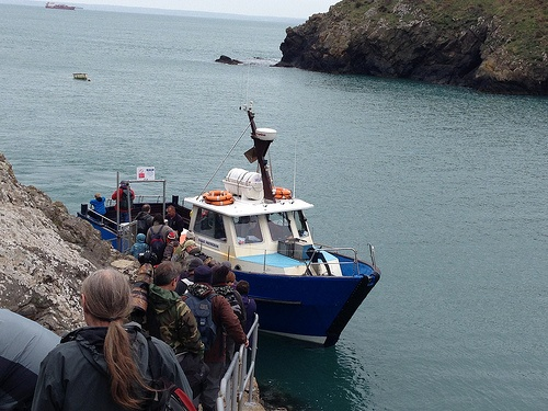 Boarding Dale Princess for the trip to Skomer Island in Pembrokeshire Photo: Heatheronhertravels.com