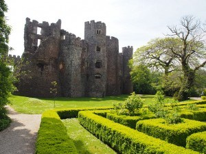 Laugharne Castle in Wales