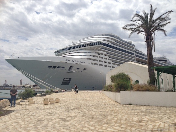 MSC Splendida at Tunis Photo: Heatheronhertravels.com