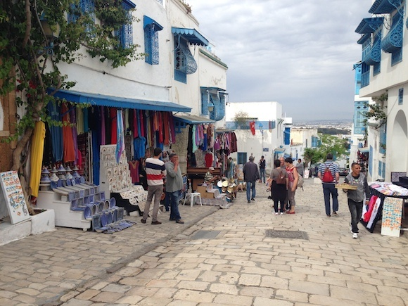 Main Street at Sidi Bou Said Photo: Heatheronhertravels.com