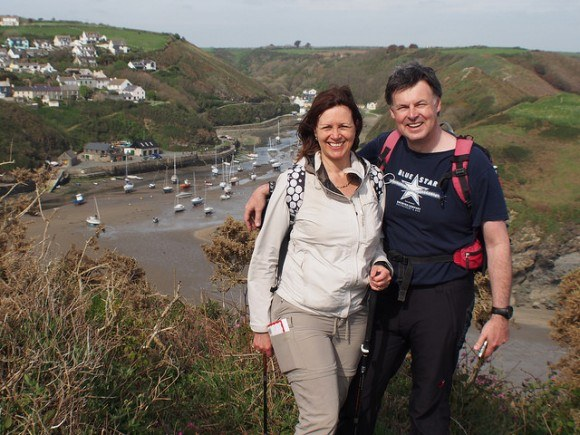 Heather and Guy walking from Solva in Pembrokeshire Photo: Heatheronhertravels.com