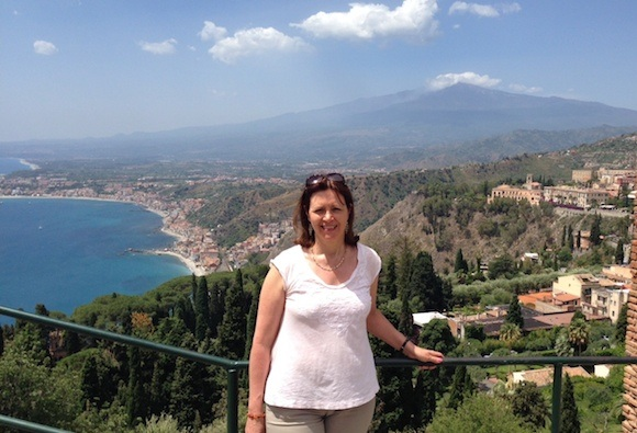 View of Mt Etna from Taormina Photo: Heatheronhertravels.com