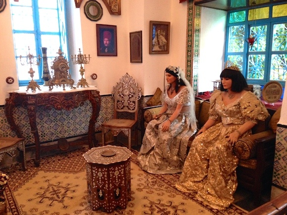 Wedding scene at museum in Sidi Bou Said Photo: Heatheronhertravels.com