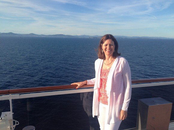 What to pack on a Mediterranean Cruise - a light cardigan to wear on cooler evenings Photo: Heatheronhertravels.com