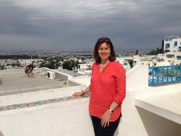 What to pack on a Mediterranean Cruise - my Eileen Fisher linen top