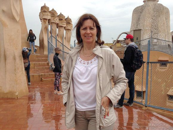 What to pack for a Mediterranean Cruise - a light jacket - Barcelona at Casa Mila Photo: Heatheronhertravels.com