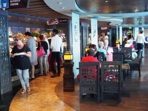Bora Bora self service Restaurant on MSC Splendida with MSC Cruises