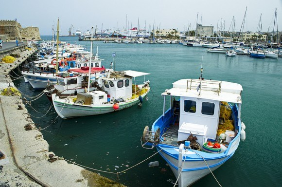Harbour at Heraklion in Crete Photo: bebopeloula on Flickr
