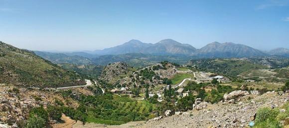 The beautiful landscape of Crete