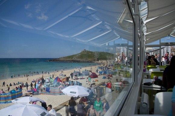 Porthmeor Beach Cafe in St Ives Photo: David Bleasdale on Flickr