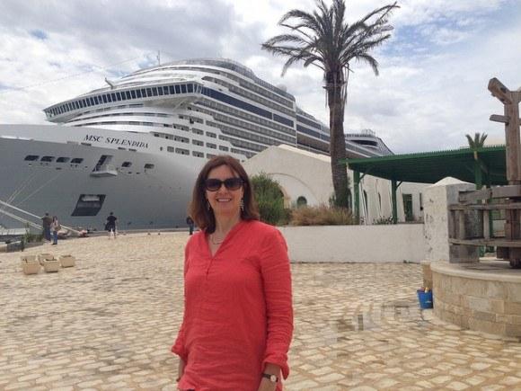 Ready to board MSC Splendida at Tunis