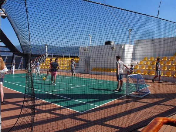 Sports court on MSC Splendida with MSC Cruises