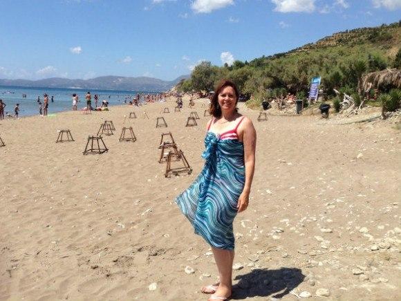 Greek beach etiquette - On Dafni beach in Zakynthos, Greece Photo: Heatheronhertravels.com