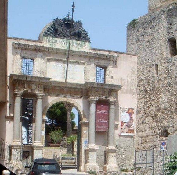 Entrance to Museum area in Cagliari