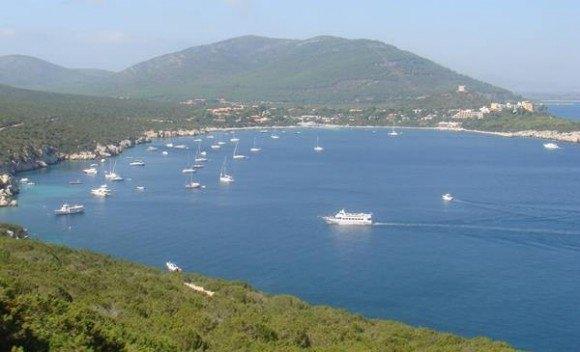 The coastal view at Oristano, Sardinia