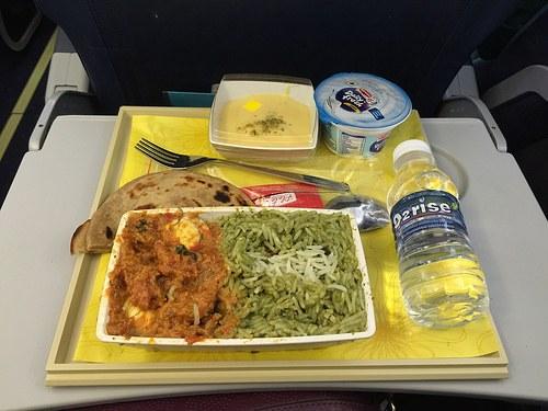 Jet Airways economy flight meal Photo: Heatheronhertravels.com