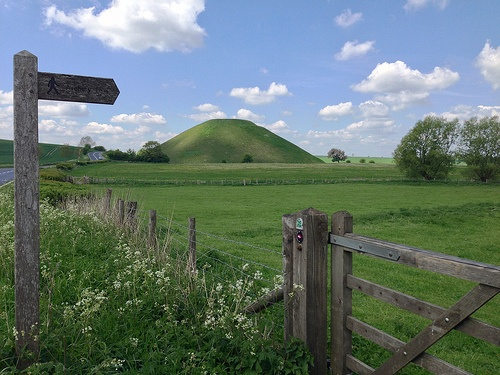 Silbury Hill in Wiltshire