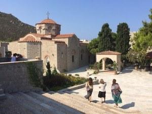 Convent of Evangelinos on Patmos, Greece Photo: Heatheronhertravels.com